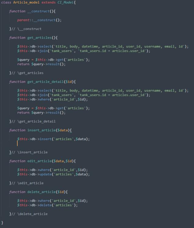 Snapshot of PHP code